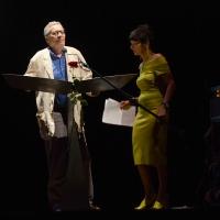 Foto Nicoloro G. 27/06/2017 Milano 18° edizione de ' La Milanesiana ' che quest' anno ha per tema ' Paura e Coraggio '. nella foto il giornalista Ranieri Polese e Elisabetta Sgarbi.