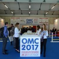 Foto Nicoloro G. 29/03/2017 Ravenna XIII edizione di OMC, Offshore Mediterranean Conference, evento biennale tra i piu' importanti in Europa, imperniato sulla ricerca e innovazione delle tecnologie offshore. nella foto l' ingresso ai padiglioni.