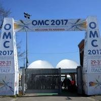 Foto Nicoloro G. 29/03/2017 Ravenna XIII edizione di OMC, Offshore Mediterranean Conference, evento biennale tra i piu' importanti in Europa, imperniato sulla ricerca e innovazione delle tecnologie offshore. nella foto l' ingresso all' OMC 2017.