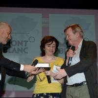 Foto Nicoloro G. 28/06/2018 Milano Edizione 2018 de ' La Milanesiana ' che ha per tema ' Il Dubbio e la Certezza '. nella foto lo scrittore Jean Echenoz riceve il ' Premio Montblanc '.