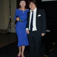 Foto Nicoloro G. 25/06/2018 Milano Edizione 2018 de ' La Milanesiana ' che ha per tema ' Il Dubbio e la Certezza '. nella foto Elisabetta Sgarbi e il pianista Ramin Bahrami.