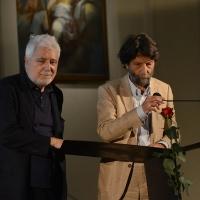 Foto Nicoloro G. 25/06/2018 Milano Edizione 2018 de ' La Milanesiana ' che ha per tema ' Il Dubbio e la Certezza '. nella foto da sinistra il giornalista Antonio Gnoli e il filosofo Massimo Cacciari.
