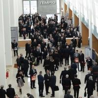 Foto Nicoloro G.   06/04/2018   Rimini   Si e' aperta al Palacongressi di Rimini l' edizione 2018 della Gran Loggia che ha per  tema ' Liberi di conosere '. nella foto l' ingresso al Tempio, sede delle rinuinioni.