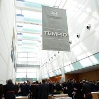 06/04/2018   Rimini   Si e' aperta al Palacongressi di Rimini l' edizione 2018 della Gran Loggia che ha per  tema ' Liberi di conosere '. nella foto l' ingresso al Tempio, sede delle rinuinioni.