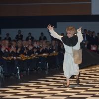 Foto Nicoloro G.   06/04/2018   Rimini   Si e' aperta al Palacongressi di Rimini l' edizione 2018 della Gran Loggia che ha per  tema ' Liberi di conosere '. nella foto l' attore Emanuele Montagna durante la sua piece su Giordano Bruno.