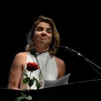 Foto Nicoloro G. 28/06/2016 Milano Quarta serata della diciassettesima edizione de ' La Milanesiana ' che quest' anno ha per titolo ' La Vanità '. nella foto la scrittrice Elena Stancarelli.