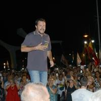 Foto Nicoloro G. 04/08/2018 Cervia ( Ravenna ) Festa della Lega Romagna. nella foto il ministro Matteo Salvini.