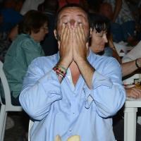 Foto Nicoloro G. 29/07/2017 Cervia ( Ravenna ) Comizio del segretario federale della Lega Nord alla Festa Nazionale Lega Nord Romagna. nella foto Matteo Salvini in un momento di stanchezza.