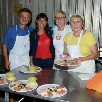 Foto Nicoloro G. 12/09/2016 Ravenna Serata conclusiva della Festa dell' Unita' del PD. nella foto Debora Serracchiani durante il suo giro di saluti ai volontari nei diversi stand della Festa.