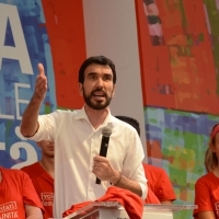 Foto Nicoloro G. 09/09/2018 Ravenna Serata di chiusura della Festa Nazionale de l' Unita'. nella foto il segretario nazionale del PD Maurizio Martina.