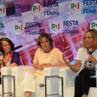 Foto Nicoloro G. 04/09/2018 Ravenna Festa Nazionale de l' Unita'. nella foto da sinistra Marina Sereni, Beatrice Lorenzin e Caterina Bini.