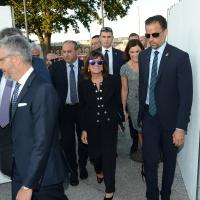 Foto Nicoloro G. 04/09/2018 Ravenna Festa Nazionale de l' Unita'. nella foto la presidente del Senato Maria Elisabetta Alberti Casellati al suo arrivo alla Festa.