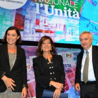 Foto Nicoloro G.   04/09/2018   Ravenna   Festa Nazionale de l' Unita'. nella foto da sinistra Elisabetta Gualmini, Maria Elisabetta Alberti Casellati e Maurizio Molinari.