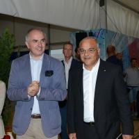 Foto Nicoloro G. 01/09/2018 Ravenna Continua la Festa Nazionale de l' Unita'. nella foto da sinistra Giuseppe Lumia e Giuseppe Antoci.