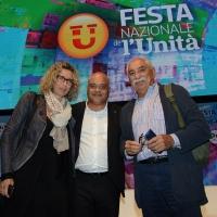 Foto Nicoloro G.   01/09/2018   Ravenna  Continua la Festa Nazionale de l' Unita'. nella foto da sinistra Anna Rossomando, Giuseppe Antoci e Armando Spataro.
