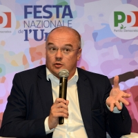 Foto Nicoloro G. 08/09/2018 Ravenna Festa Nazionale de l' Unita'. nella foto il deputato PD Enrico Borghi.