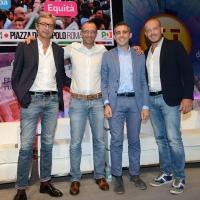 Foto Nicoloro G.   08/09/2018   Ravenna    Festa Nazionale de l' Unita'. nella foto da sinistra i sindaci Andrea Gnassi, Matteo Ricci, Federico Pizzarotti e Enrico Ioculano.