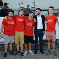 Foto Nicoloro G. 30/08/2018 Ravenna Continua la Festa Nazionale de l' Unita'. nella foto Maurizio Martina in posa con un gruppo di volontari.