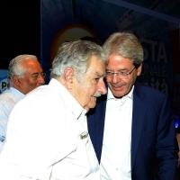 Foto Nicoloro G. 30/08/2018 Ravenna Continua la Festa Nazionale de l' Unita'. nella foto Pepe Mujica, a sinistra, e Paolo Gentiloni.