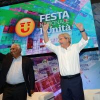 Foto Nicoloro G.   30/08/2018    Ravenna    Continua la Festa Nazionale de l' Unita'. nella foto da sinistra Antonio Costa, primo ministro del Portogallo, e l' onorevole Paolo Gentiloni.