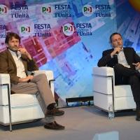 Foto Nicoloro G. 05/09/2018 Ravenna Continua la Festa Nazionale de l' Unita'. nella foto Dario Franceschini e il giornalista Massimo Giannini.