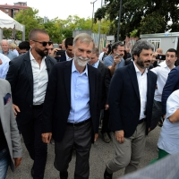 Foto Nicoloro G.   03/09/2018  Ravenna     Festa Nazionale de  L' Unitaì. nella foto il presidente della Camera Roberto Fico e Graziano Delrio.