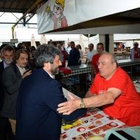 Foto Nicoloro G.   03/09/2018  Ravenna     Festa Nazionale de  L' Unitaì. nella foto il presidente della Camera Roberto Fico saluta alcuni volontari di uno stand.