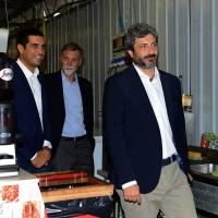 03/09/2018  Ravenna     Festa Nazionale de  L' Unitaì. nella foto Roberto Fico e dietro il sindaco Michele De Pascale e Graziano Delrio.