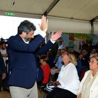 Foto Nicoloro G.   03/09/2018  Ravenna     Festa Nazionale de  L' Unitaì. nella foto il presidente4 della Camera Roberto Fico fa il suo ingresso nella sale dell' incontro-dibattito.