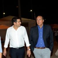 Foto Nicoloro G. 02/09/2016 Ravenna Festa dell' Unita'. nella foto l' onorevole Pierluigi Bersani, a destra, con il nuovo sindaco di Ravenna Michele De Pascale.