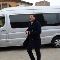 Foto Nicoloro G. 05/04/2016 Milano Si sono svolti nella Basilica di Sant' Ambrogio i funerali del campione di calcio Cesare Maldini. nella foto l' arrivo di Xavier Zanetti.