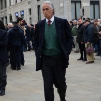 Foto Nicoloro G. 05/04/2016 Milano Si sono svolti nella Basilica di Sant' Ambrogio i funerali del campione di calcio Cesare Maldini. nella foto l' arrivo di Giovanni Malagò.