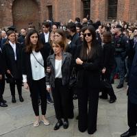 Foto Nicoloro G. 05/04/2016 Milano Si sono svolti nella Basilica di Sant' Ambrogio i funerali del campione di calcio Cesare Maldini. nella foto al centro la moglie Marisa.