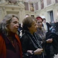 Foto Nicoloro G. 11/11/2016 Milano Nella sala Alessi di palazzo Marino si e' svolto in forma laica il funerale dell' oncologo Umberto Veronesi. nella foto da sinistra Andree Ruth Shammah, la vedova Sultana Razon e l' onorevole Emma Bonino.