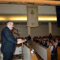 Foto Nicoloro G. 18/09/2016 Milano Inaugurazione della Giornata europea della Cultura Ebraica alla presenza del ministro della Difesa. nella foto il rabbino Capo di Milano Alfonso Arbib.