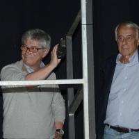 Foto Nicoloro G.   05/10/2017   Ravenna   Incontro e dibattito con alti esponenti di MDP e Campo Progressista sui temi di attualita' politica. nella foto da sinistra Vasco Errani e Giuliano Pisapia.