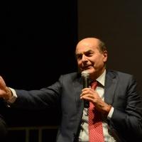Foto Nicoloro G.   05/10/2017   Ravenna   Incontro e dibattito con alti esponenti di MDP e Campo Progressista sui temi di attualita' politica. nella foto Pierluigi Bersani di MDP.