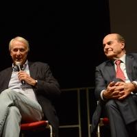 Foto Nicoloro G.   05/10/2017   Ravenna   Incontro e dibattito con alti esponenti di MDP e Campo Progressista sui temi di attualita' politica. nella foto da sinistra Giuliano Pisapia e Pierluigi Bersani.