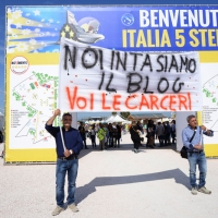 Foto Nicoloro G. 22/09/2017 Rimini Seconda giornata della quarta edizione di ' Italia 5 Stelle ', manifestazione a carattere nazionale del Movimento. nella foto simpatizzanti.