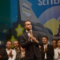 Foto Nicoloro G.   22/09/2017    Rimini    Seconda giornata della quarta edizione di ' Italia 5 Stelle ', manifestazione a carattere nazionale del Movimento. nella foto Luigi Di Maio subito dopo la sua proclamazione a vincitore della votazione on-line.