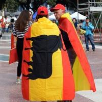 Foto Nicoloro G.   12/10/2017    Barcellona     Manifestazione con corteo degli unionisti per l' unita' della Spagna contro il progetto dell' indipendenza della Catalogna. nella foto immagini dal corteo.