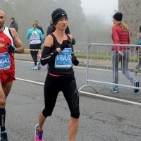 Foto Nicoloro G. 12/11/2017 Ravenna Si e' svolta con un successo di iscrizioni, circa 10.000 partecipanti, la XIX Maratona Internazionale di Ravenna. nella foto la vincitrice tra le donne la croata Marija Vrajc lungo il percorso.