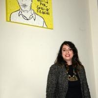 Foto Nicoloro G. 19/12/2018 Ravenna Nel municipio della ' citta' del mosaico ' e' stato inaugurato un mosaico dedicato a Giulio Regeni e realizzato dall' Accademia delle Belle Arti. nella foto l' artista Anna Agati, dell' Accademia di Belle Arti di Ravenna, che ha realizzato l' opera.