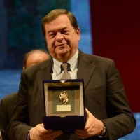 Foto Nicoloro G. 03/12/2017 Ravenna 46° edizione del ' Premio Guidarello ' per il Giornalismo d' Autore. nella foto Guido Gentili, direttore responsabile de Il Sole 24 Ore, premiato per la sezione societa'.