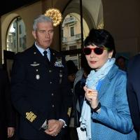 Foto Nicoloro G.   04/05/2016  Milano   Conferenza stampa di presentazione della diciassettesima edizione de ' La Milanesiana '. nella foto Elisabetta Sgarbi e il Generale dell' Aviazione Settimo Caputo.