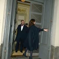 Foto Nicoloro G. 07/12/2018 Milano Tradizionale Prima della Scala che quest' anno apre con ' Attila ' di Giuseppe Verdi. nella foto ore 17 si aprono le porte del Teatro.