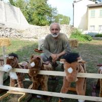 Foto Nicoloro G. 09/09/2017 Ravenna Primo raduno nazionale ' Cavalli a dondolo '. Un' iniziativa culturale e ludico-ricreativa nata per promuovere la cultura del gioco. nella foto Luigi Berardi, l' artista ideatore della manifestazione.