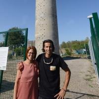 Foto Nicoloro G. 14/07/2017 Ravenna Inaugurata la torre di arrampicata che con i suoi 32 metri e' la piu' alta d' Italia. nella foto Sara Zanotti e Dario Tasselli, rispettivamente presidente e vicepresidente dell' Associazione Sportiva RGF che ha voluto la torre d' arrampicata.