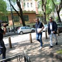 Foto Nicoloro G. 12/05/2018 Milano Riunione dei delegati negoziatori della Lega e del M5S per trovare una soluzione per il ' Contratto di Governo '. nella foto il senatore Roberto Calderoli.