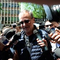 Foto Nicoloro G. 12/05/2018 Milano Riunione dei delegati negoziatori della Lega e del M5S per trovare una soliuzione per il ' Contratto di Governo '. nella foto il senatore Roberto Calderoli.